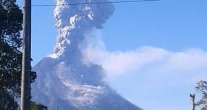 Keadaan Gunung Merapi yang meletus pada Jumat (11/5) lalu