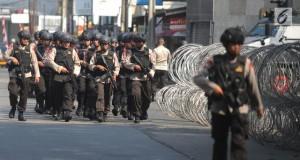 Mako Brimob Dijaga Ketat Polisi