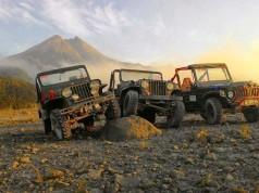 Ilustrasi Jip Tur Merapi