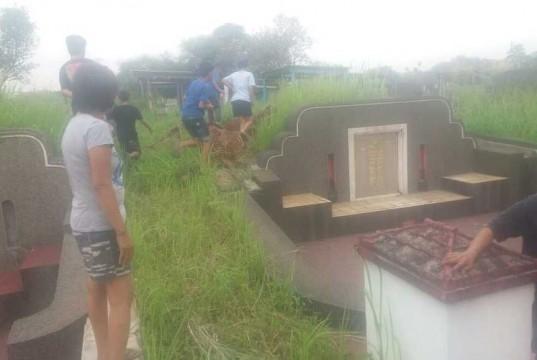 Orang Tak Dikenal Bongkar Enam Kuburan Tionghoa (foto: Berita Satu)