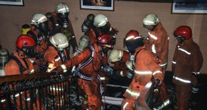 Kebakaran Kantor Kemenhub (foto: Antara)