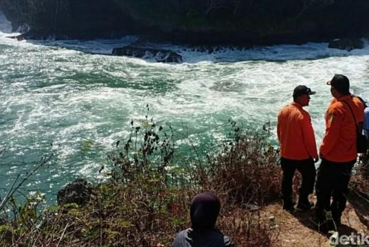 Nelayan Hilang di Gunungkidul (foto: Detikcom)