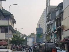 Tabung Gas Meledak di Ruko Grand Wijaya (foto: Kompas)