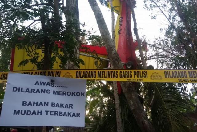 Pesawat Erix Soekamti Jatuh di Gunungkidul (foto: Kompas)