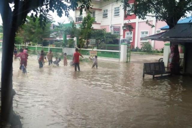 Banjir di Aceh Utara (foto: Kompas)