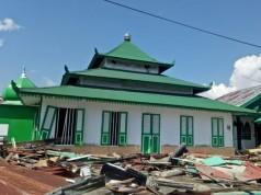 Kondisi Masjid Tua Wani Pascagempa (foto: Kompas)