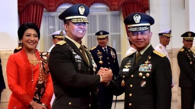 Pelantikan Jenderal Andika sebagai KSAD